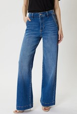 Miss Bliss Super High Rise Flare Jean- Washed