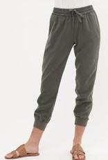 Miss Bliss Tencel Pants W Adjustable Drawstrings-Olive