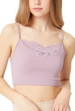 Miss Bliss Lace Detail Solid Cami-