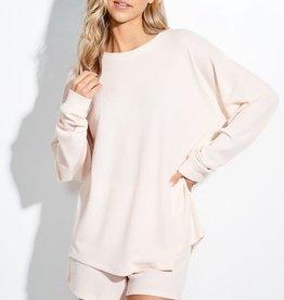 Miss Bliss Basic Shorts Lounge Wear Set- Cream