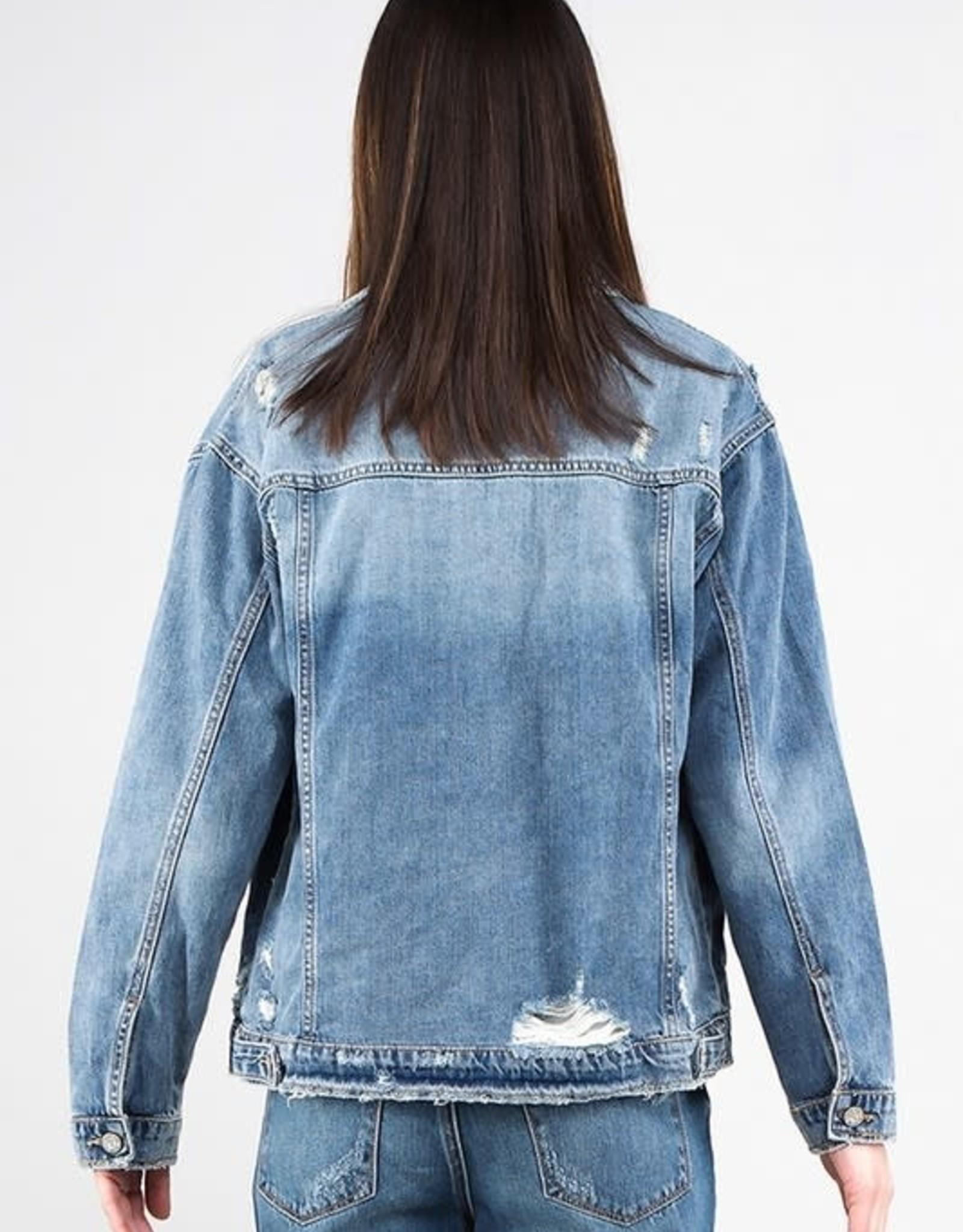 Miss Bliss Premium Oversized Jacket- Denim