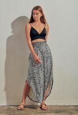 Miss Bliss Animal Print Maxi Skirt- Ivory