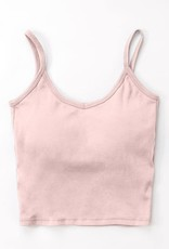 Miss Bliss Built In Bra Cropped Cami-