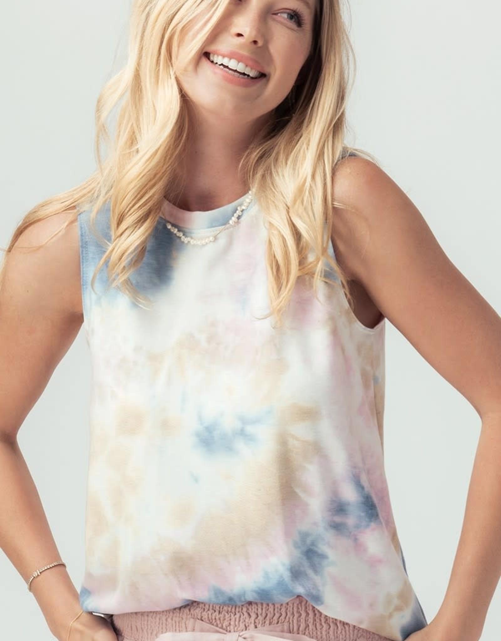 Miss Bliss Slvls Tie Dye Top- Multi