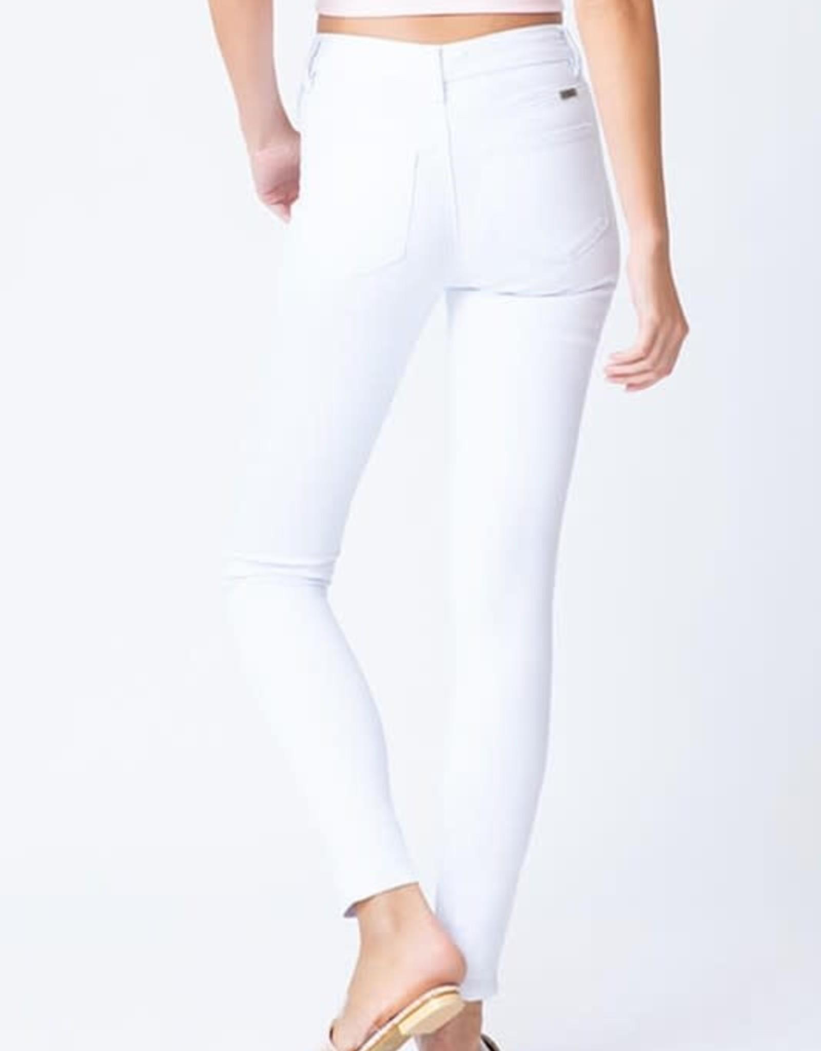 Miss Bliss High Rise Super Skinny Jean- White
