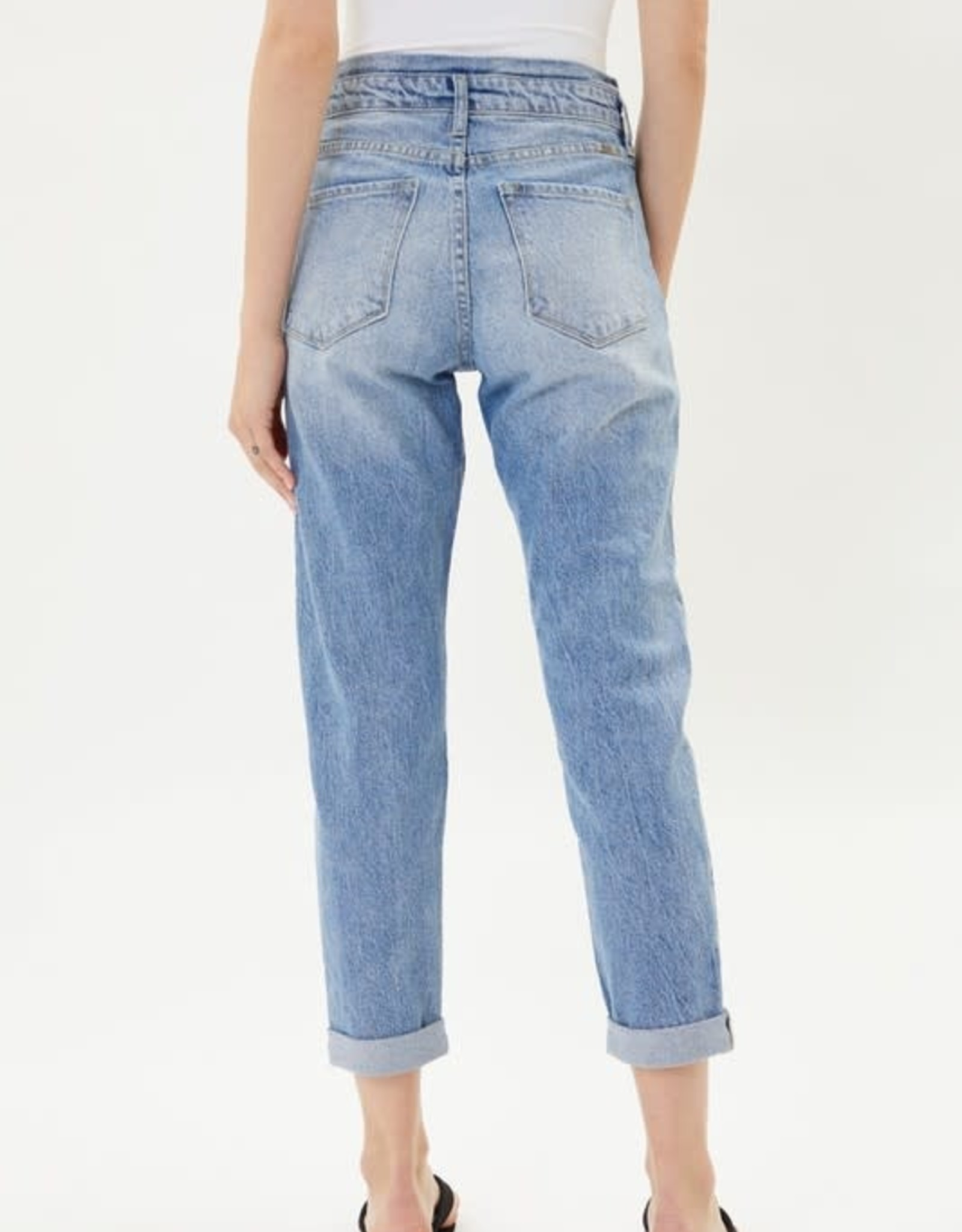 Miss Bliss High Rise Mom Fit Jeans- Light Wash