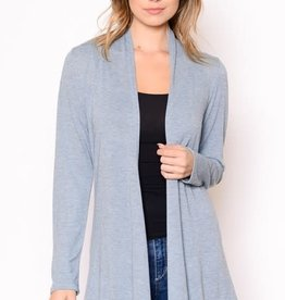 Miss Bliss Open Front Knit Cardigan- H.Blue