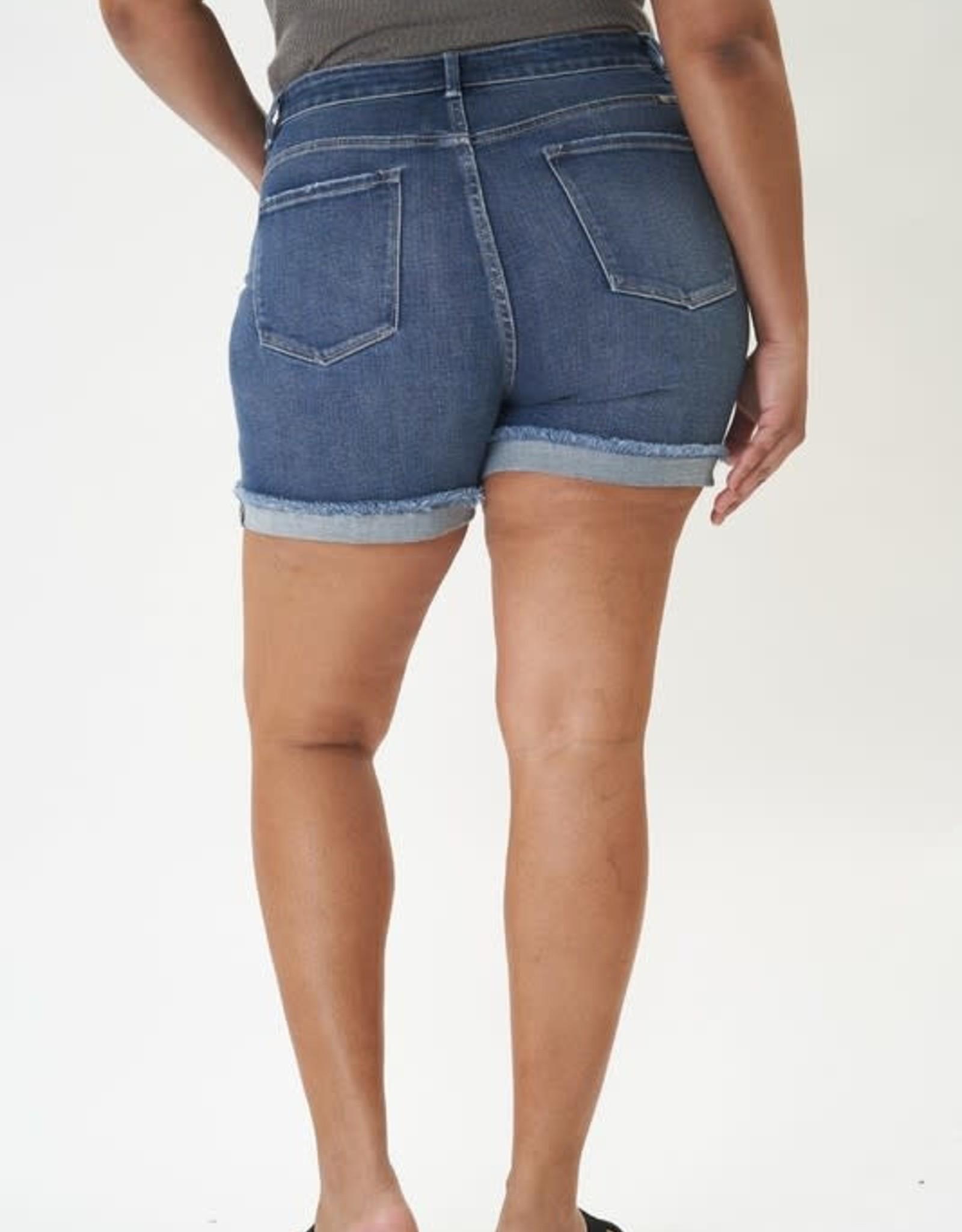 Miss Bliss High Rise Folded Shorts Plus-