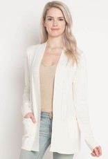 Miss Bliss Open Ribbed Cardigan- Off White
