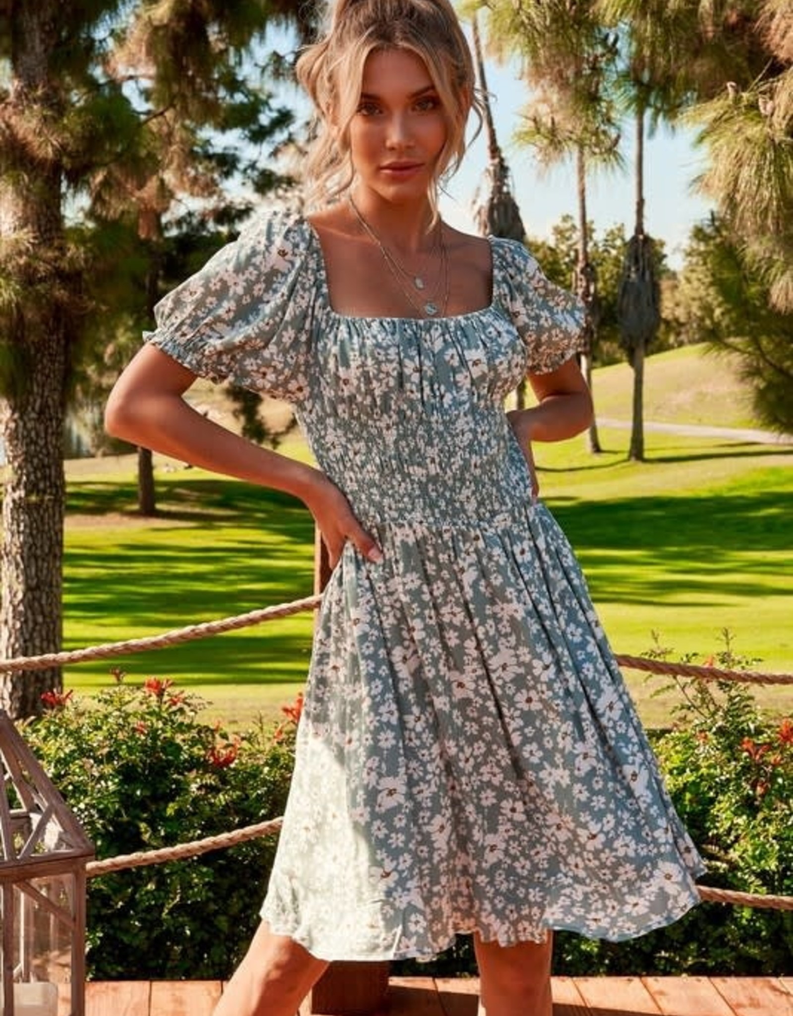 Miss Bliss Daisy Smocked Dress
