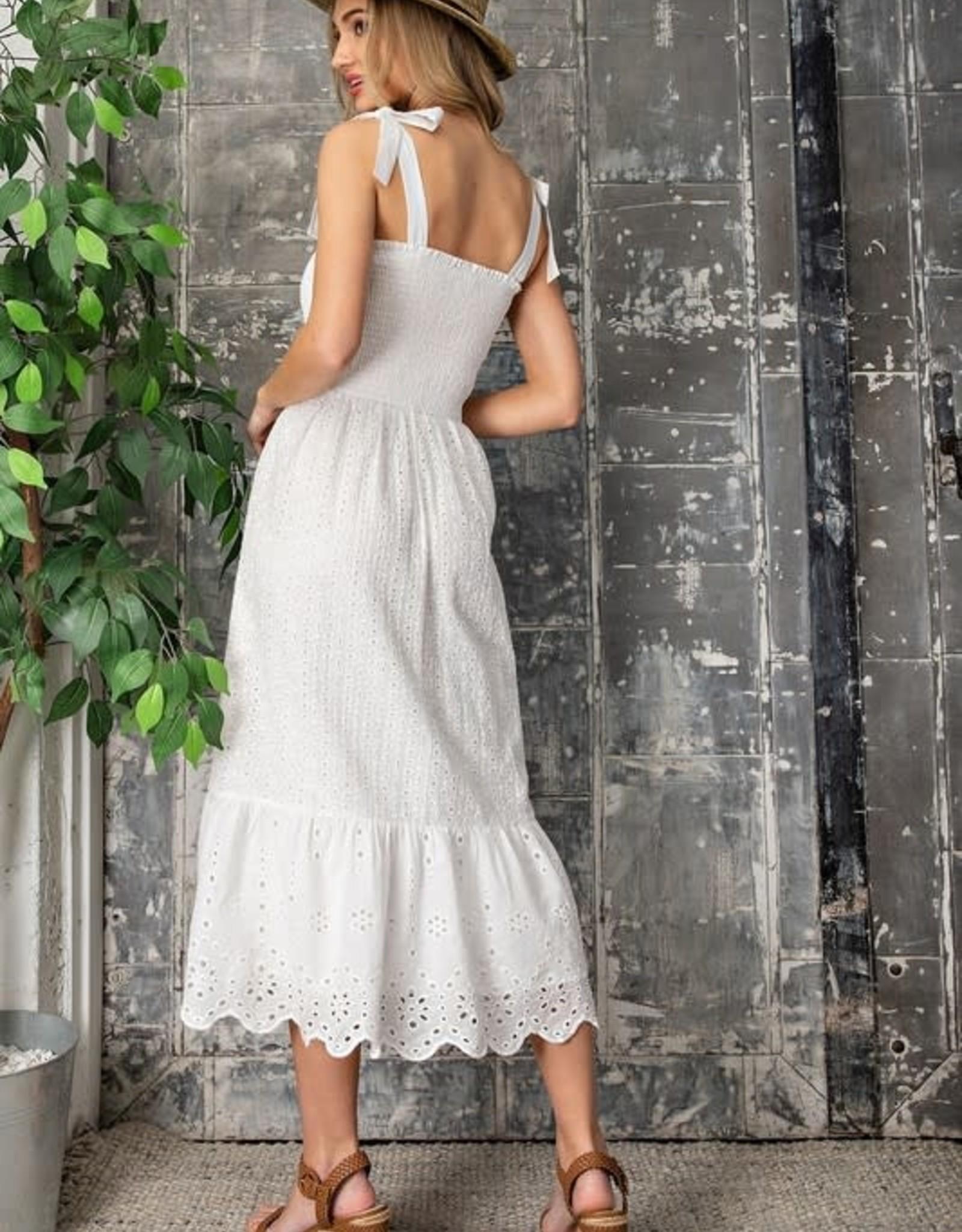 Miss Bliss White Eyelett Dress