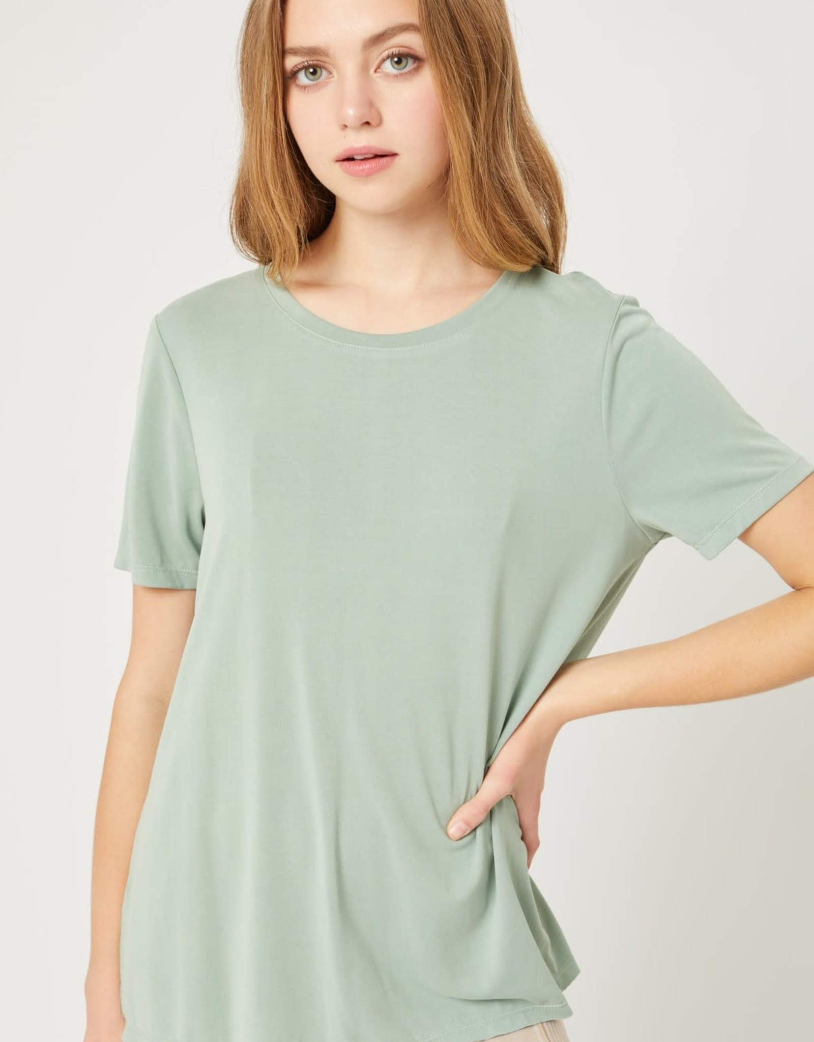 Miss Bliss Boat Neck SS Jersey Top-
