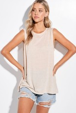 Miss Bliss Solid Slvls Muscle Tank-