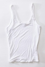 Miss Bliss Double Layer Scoop Neck Tank- White