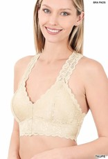 Miss Bliss Lace Hourglass Back Bralette-