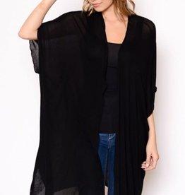 Miss Bliss Lightweight Solid Kimono-