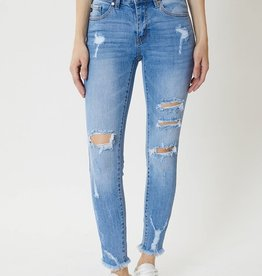 Miss Bliss Mid Rise Distressed Ankle Skinny-