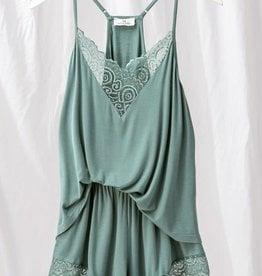 Miss Bliss Laced Cami Short Pajama Set