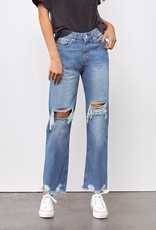 Miss Bliss Relaxed Mom Fit Jean- Light Wash