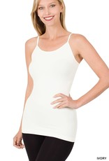 Miss Bliss Seamless Adjustable Strap Cami- Ivory