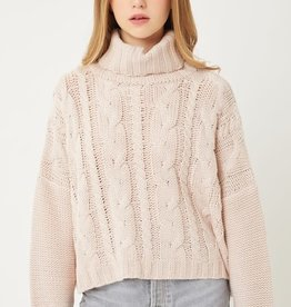 Miss Bliss Turtle Neck Knit Sweater-