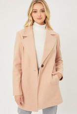 Miss Bliss Fleece Single Breasted Coat-