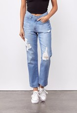 Miss Bliss Mom Fit Jeans- Light Blue
