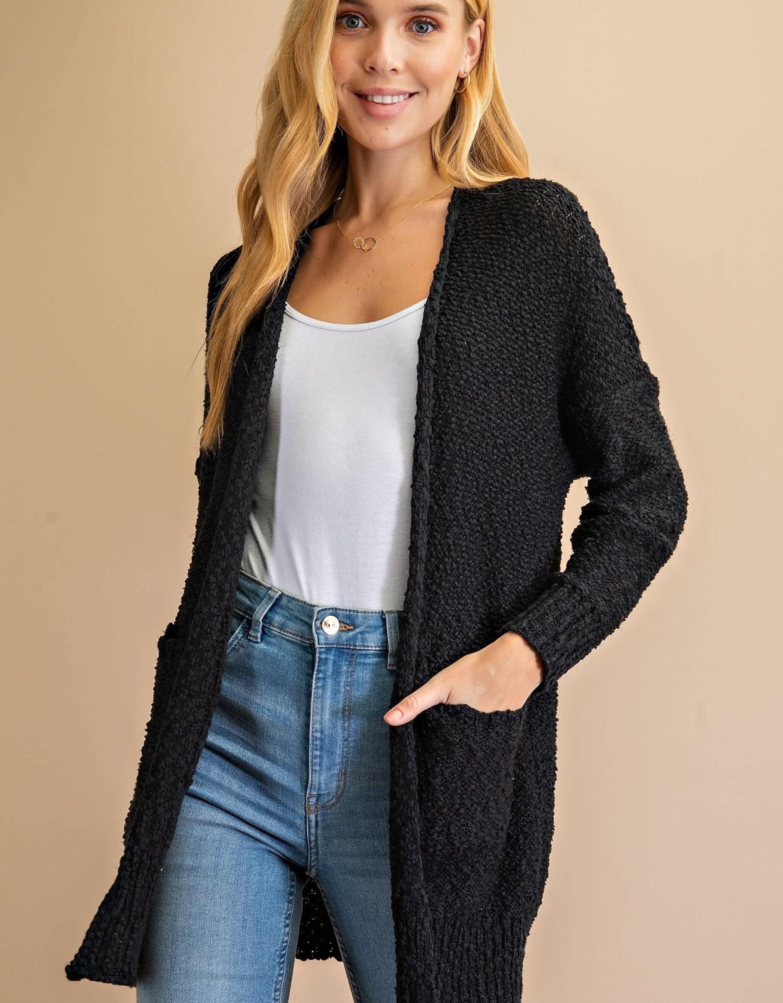 Miss Bliss Knit Cardigan- Black