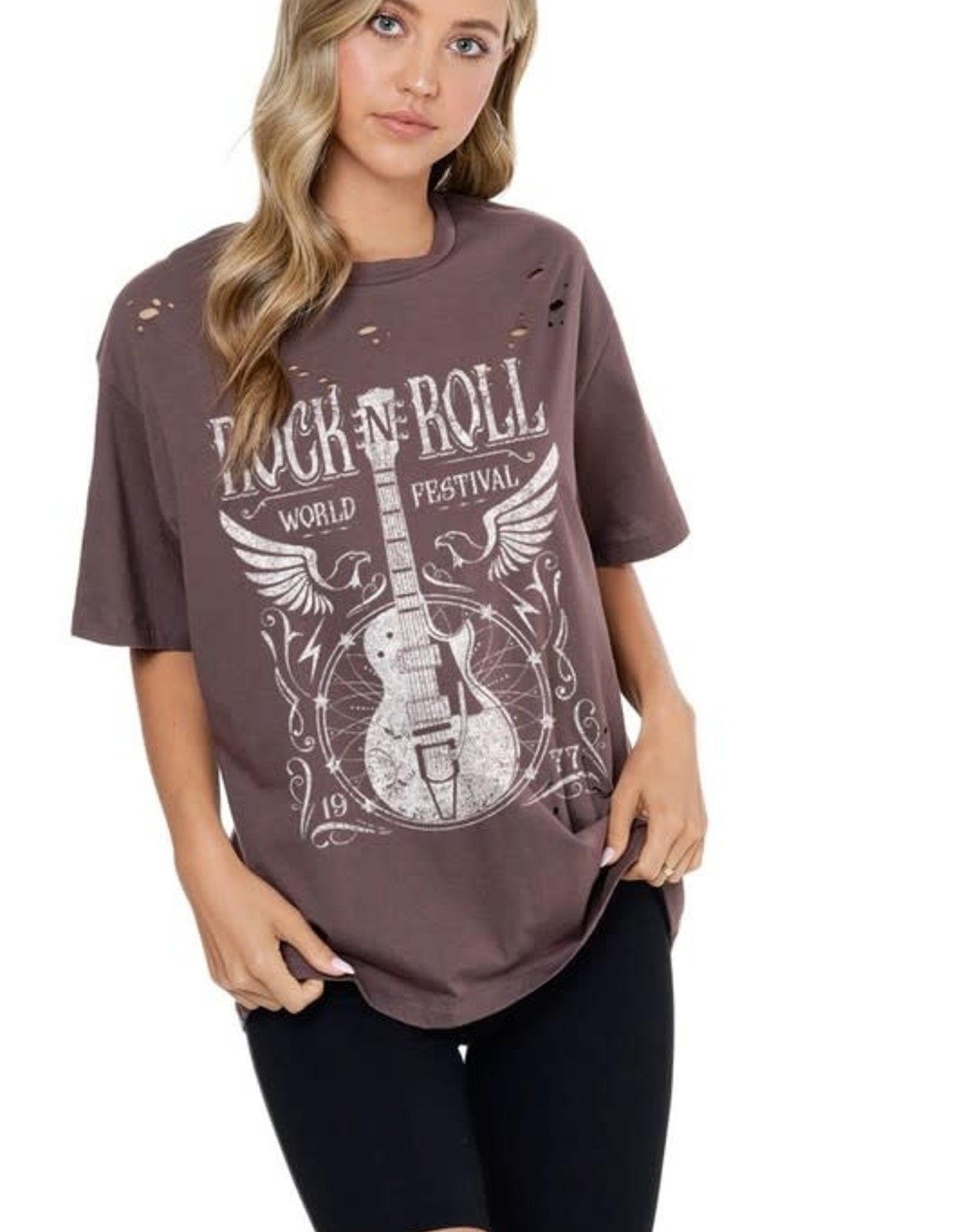 Miss Bliss Rock And Roll Graphic Tee-