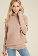 Miss Bliss Slouch Neck Dolman Knit Top-