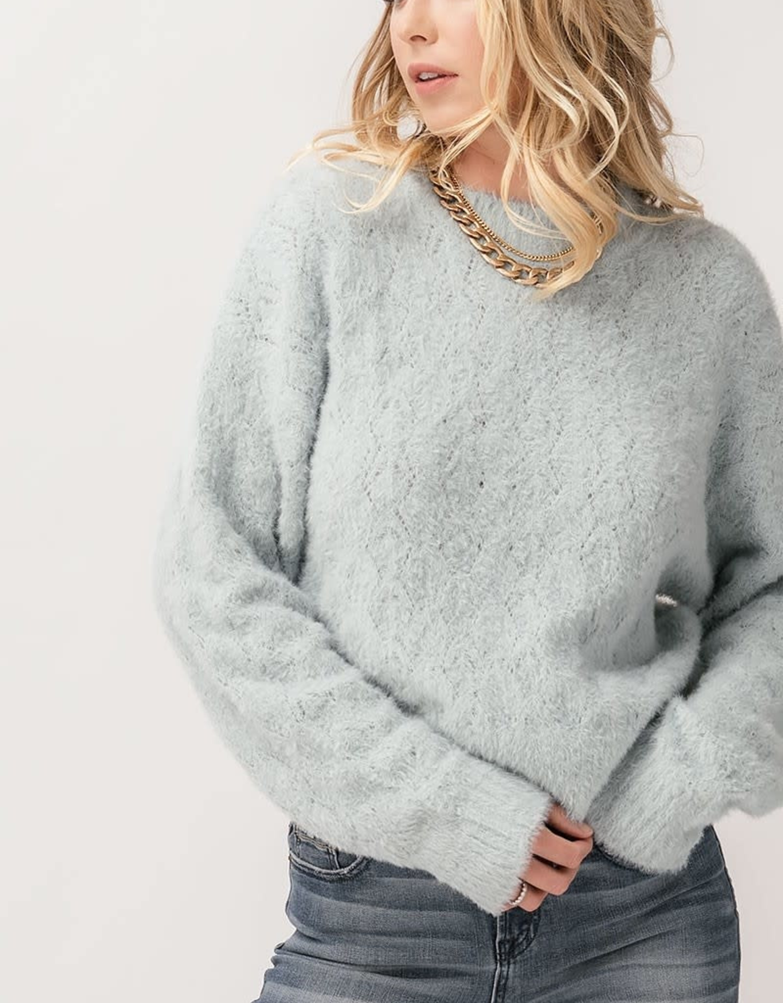 Miss Bliss Fuzzy Knit Sweater-