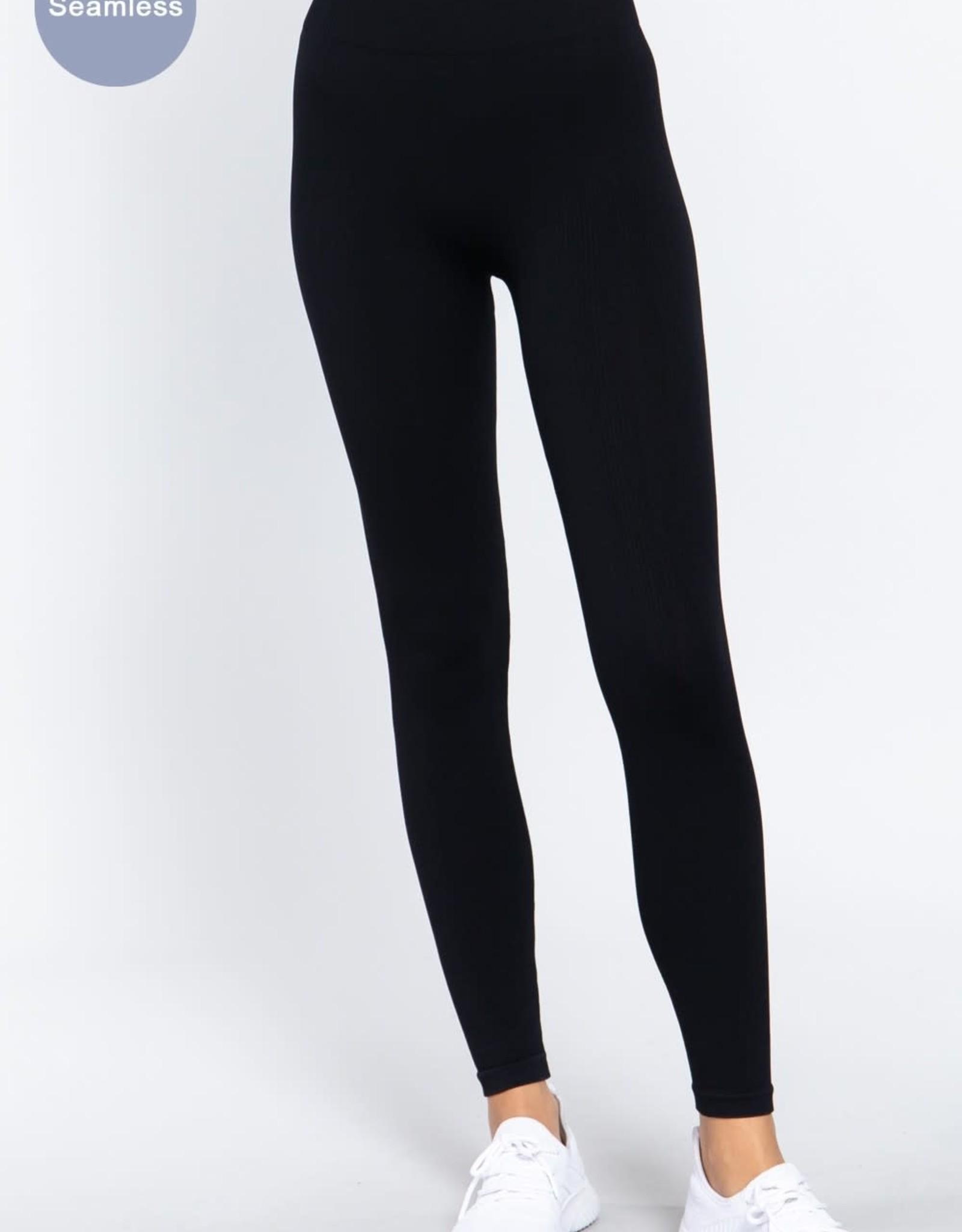 Miss Bliss Essential Basic Leggings- Black