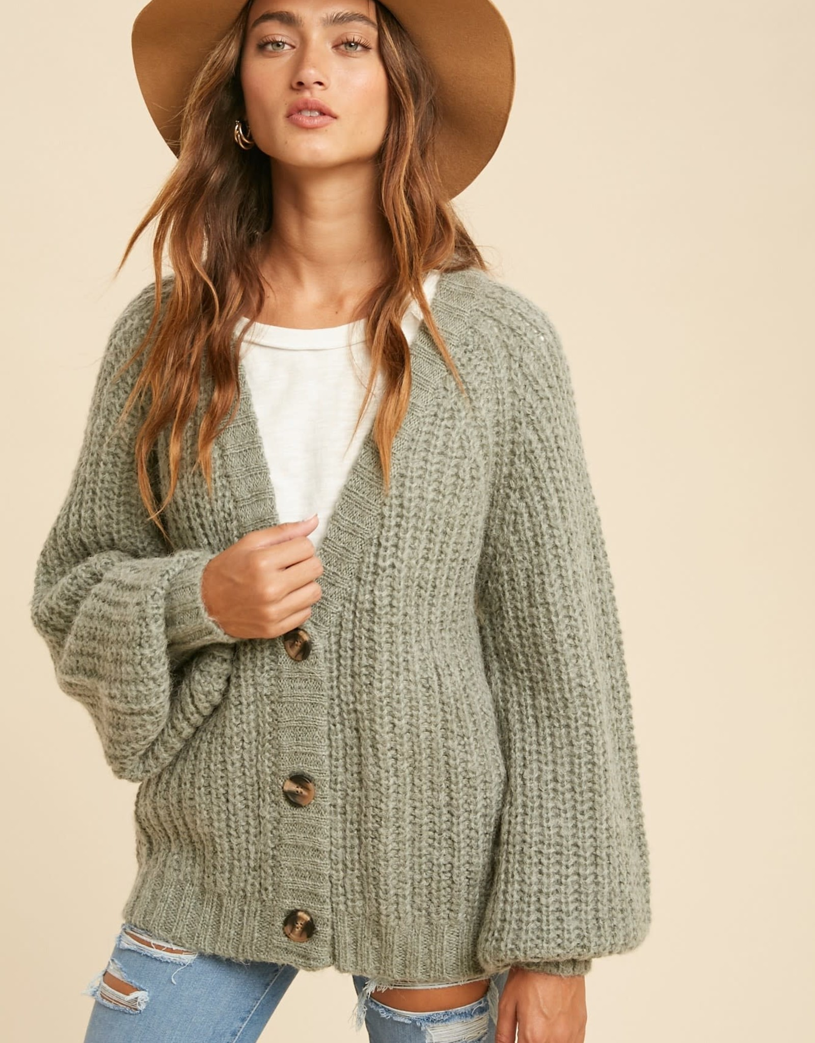 Miss Bliss Knit Button Down Cardigan-