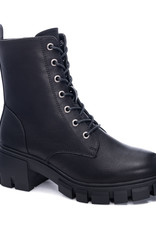 Miss Bliss Newz Tie Up Boot- Black