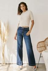 Miss Bliss High Rise Wide Leg Jean- Dark Blue