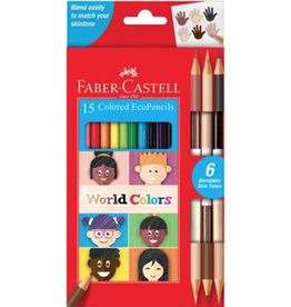 Faber Castell 15 Colored EcoPencils World Colors