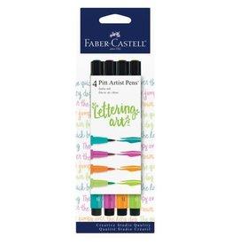 Faber Castell 4 Pitt Artist Pens Lettering Art