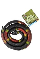 """Adventure Planet 48"""" RUBBER EASTERN CORAL SNAKE"""