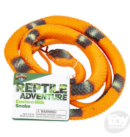"Adventure Planet 48"" RUBBER EASTERN MILK SNAKE"