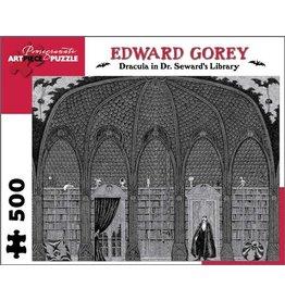 Pomegranate 500 piece Edward Gorey -Dracula in Dr. Seward's Library