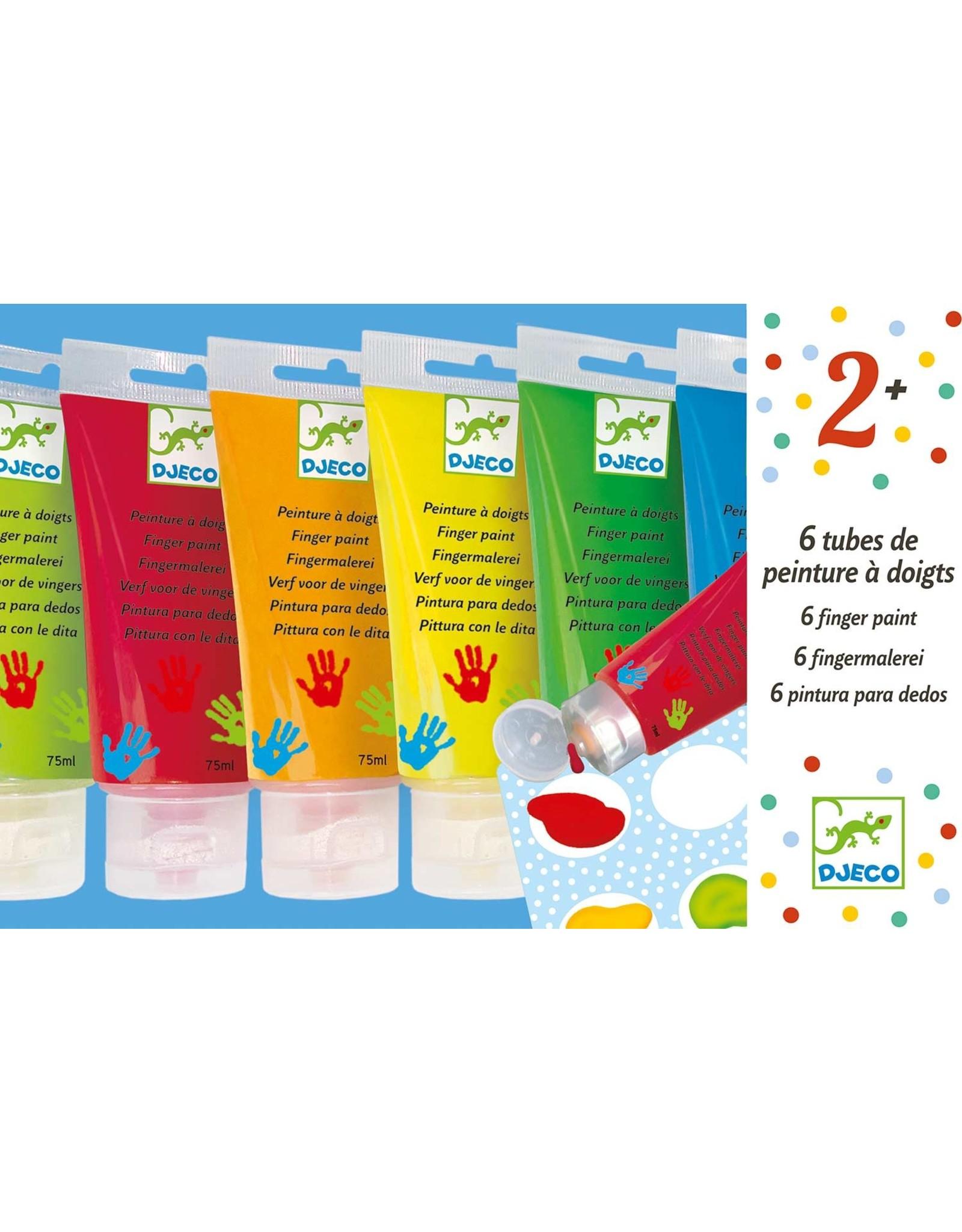 Djeco 6 Finger Paint Tubes - Classic