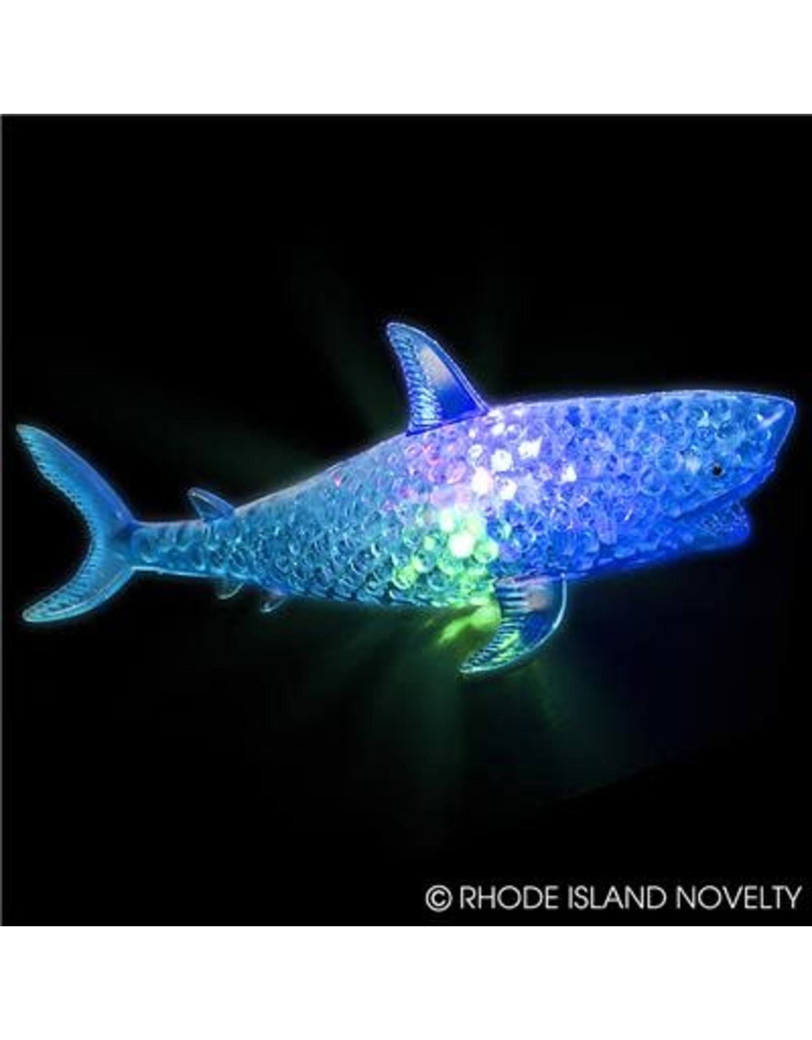 """7.5"""" LIGHT-UP SQUEEZY BEAD SHARK"""