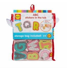 Alex ABC Stickers in the Tub