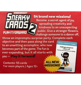 Gamewright Sneaky Cards 2 Play it Forward