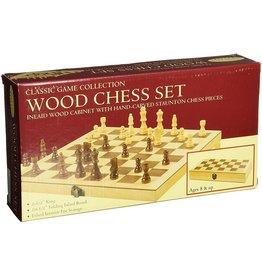 """John Hansen 10-1/2"""" Deluxe Wood Chess Set TM-3"""