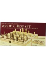 "John Hansen 15"" Deluxe Wood Chess Set TM-4"