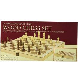 """John Hansen 15"""" Deluxe Wood Chess Set TM-4"""