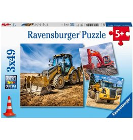 Ravensburger Diggers at Work!  (3x49 pc)