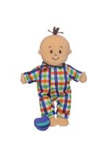Manhattan Toy Wee Baby Stella Fella Peach with Brown Hair