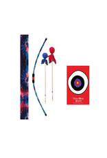 Two Bros Bows Blue Tie Dye Bow, 2 Cobalt Arrows and Small Bullseye